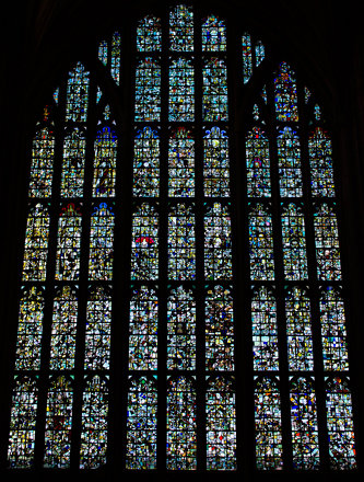 Winchester Cathedral, Hampshire: The Great West Window