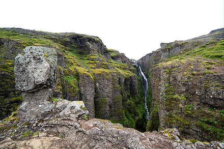 View on waterfall
