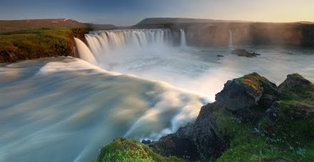 Sunrise at Godafoss Waterfall