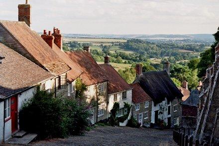 Gold Hill, Shaftesbury, Dorset, Angleterre, Royaume-Uni.