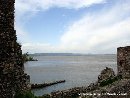 Danube, Serbia, view from Golubac fortress