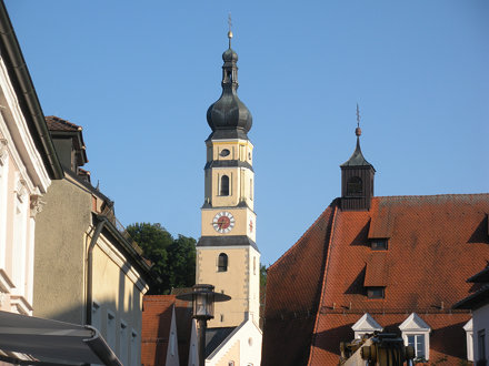 Clock tower in Deggendorf