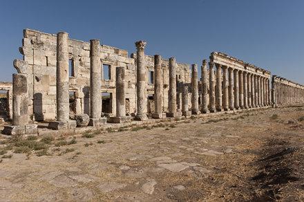 Apamea II. Porticoes and shops