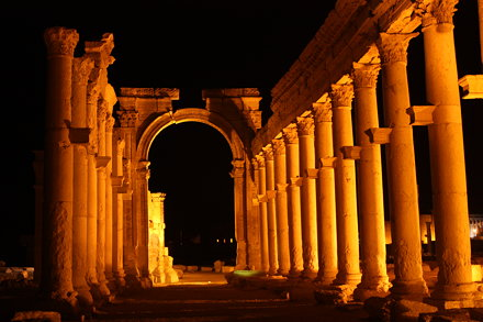 Palmyra, Great Colonnade and Monumental Arch