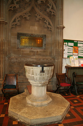 Great Malvern Priory's font