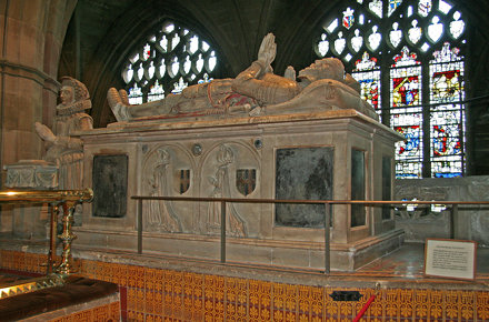 Tomb in Great Malvern Priory