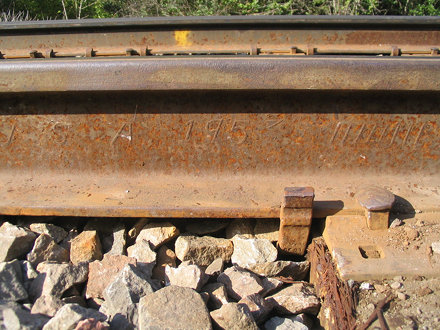 Rail inscription