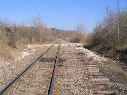 West terminus of the former Kurth Malting siding