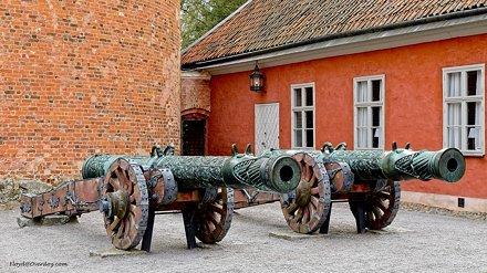 2 cannons. Gripsholm Castle.