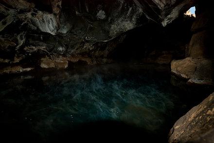 Lava cave Grjótagjá