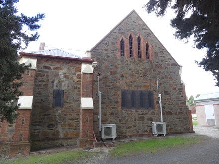 Balhannah Anglican church built in 1865.