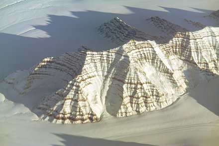 Mountains at eastern Greenland