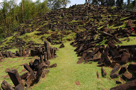 Stones to the Top of Gunung Padang