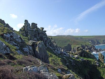 Cliff pinnacles near Gurnard's Head