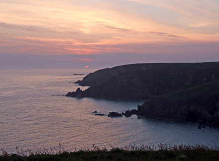 Beginning of sunrise, from by Gurnard's Head to Zennor Head