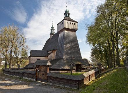 Gotycki drewniany kościół w Haczowie / The Gothic wooden church in Haczów