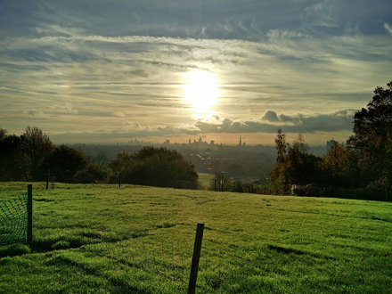 Hampstead Heath View to City