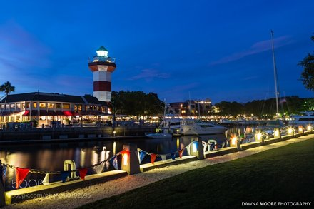 Harbour Town Lighthouse at Twilight,  Hilton Head Island, South