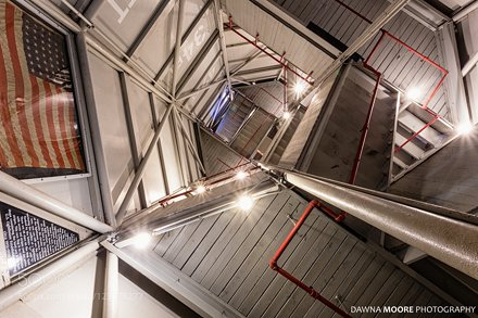 Looking Up Harbour Town Light Staircase, Hilton Head Island, Sou