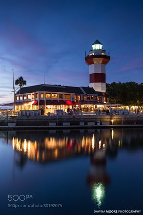 Harbour Town Lighthouse at Blue Hour, Hilton Head Island, South