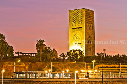 Tramway and Hassan Tower