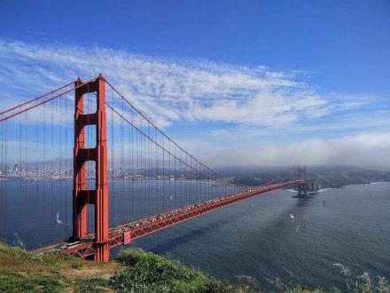 Golden Gate Bridge from Marin Headlands #sanfrancisco #goldengatebridge #california