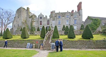 Hay on Wye Castle. Powys. Wales