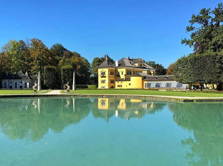 View of Hellbrunn Palace from the courtyard.  #salzburg #austria #wanderlust #wanderjinn