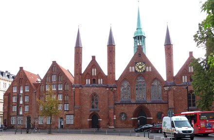 13th Century Hospital of the Holy Ghost at The Hanseatic City of Lubeck on the River Trave in Northe