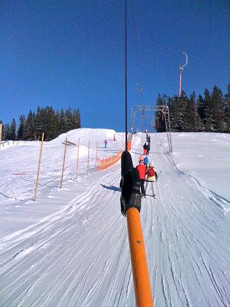 Schlepplift bergauf