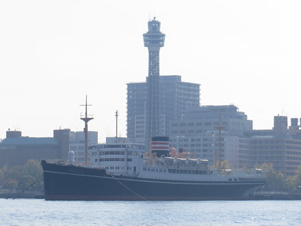 Hikawa Maru and Marine Tower - Yokohama