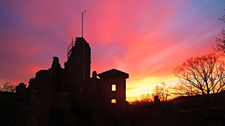 Sunset at Hohnstein Castle