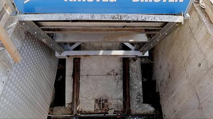 Funicular Amsteg - Bristen in operation