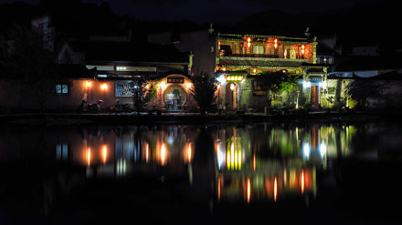Hongcun at night