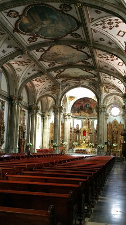 COYOACAN, interior de la Iglesia de San Juan Bautista 2