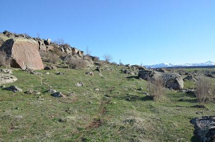 Hittite rock relief of İmamkullu, district of Kayseri, Turkey
