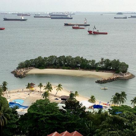 Bird's eye view of Siloso beach in Sentosa.  #StarmoInSingapore #WanderMore #EverydayWithStarmo