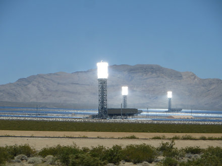Ivanpah Solar Electric Generating System, California, Near Primm, Nevada