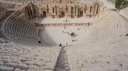 The South Theater, the Roman Ruins of Jerash, Jordan.