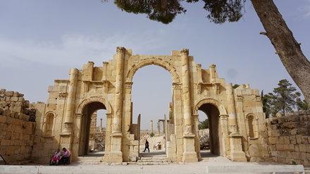 The South Gate, the Roman Ruins of Jerash, Jordan.