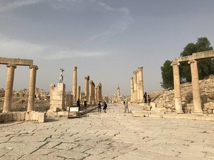 The Forum, the Roman Ruins of Jerash, Jordan.