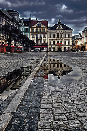 Reflections - Cieszyn Town Square
