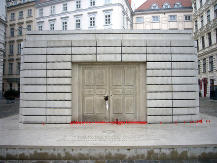 Front of the Judenplatz Holocaust Memorial, Vienna