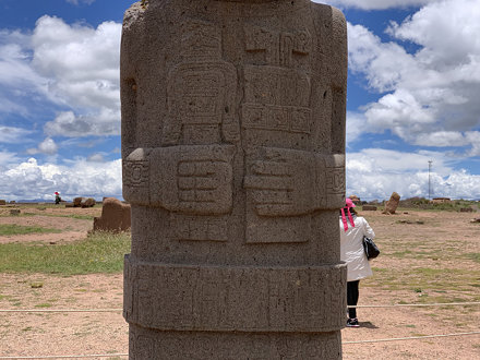 The Ponce Monolith, the Kalasasaya Temple, Tiwanaku, Bolivia.