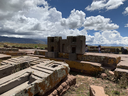 The Door of the Puma (Puma Punku), Tiwanaku, Bolivia.
