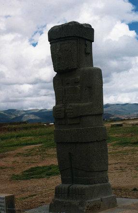 Megalithic statue at Tiwanaku