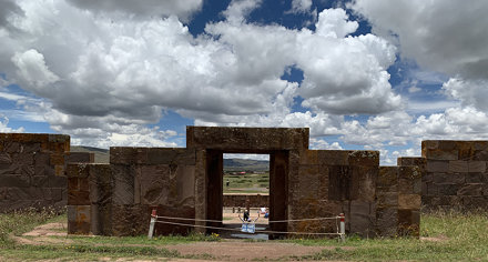 The Kalasasaya Temple, Tiwanaku, Bolivia.