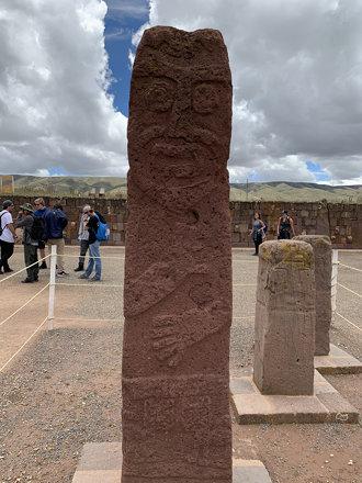 A Bearded Monolith, the Templete Semisubterráneo, Tiwanaku, Bolivia.