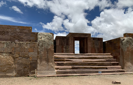 The Temple Kalasasaya, Tiwanaku, Bolivia.