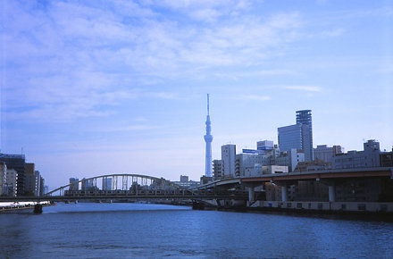 Sumida River, Train and Sky Tree